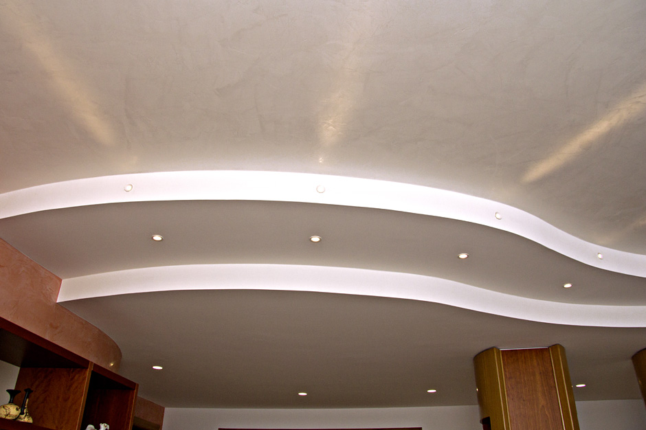 Interessante controsoffitto in cartongesso con faretti for Controsoffitto cartongesso