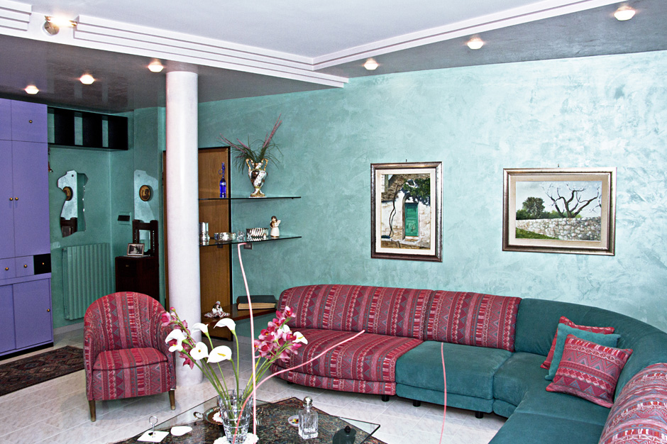Parete decorata dgcolor - Tecnica per decorare pareti ...