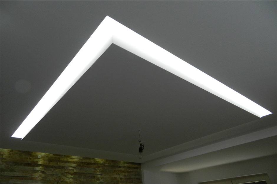 Controsoffitto in cartongesso con led ds89 regardsdefemmes for Led controsoffitto